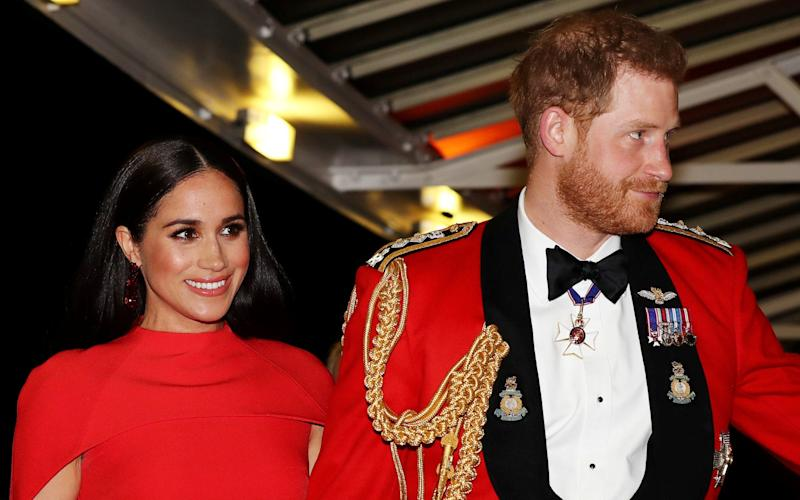 The Duke and Duchess of Sussex attend The Mountbatten Festival of Music in London in March 2020 - Simon Dawson/REUTERS
