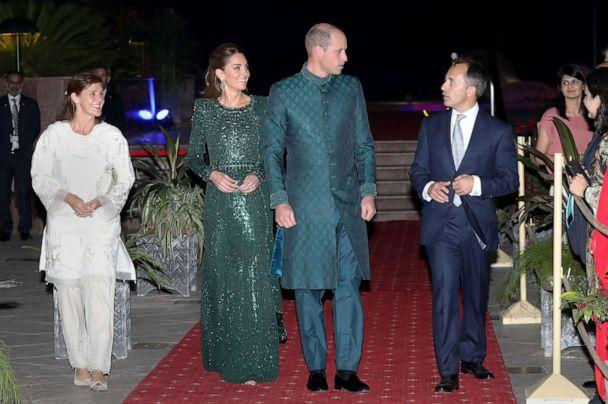 PHOTO: The Duke and Duchess of Cambridge, Prince William and Catherine, attend a special reception hosted by the British High Commissioner Thomas Drew, right, and his wife Joanna Drew, during their royal tour of Pakistan, Oct.15, 2019 in Islamabad. (Chris Jackson/Pool via Getty Images)
