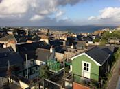 A view of St Ives in Cornwall showing a panoramic view of st Ives