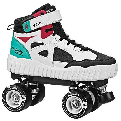 """<p><strong>Roller Derby</strong></p><p>amazon.com</p><p><strong>$109.99</strong></p><p><a href=""""https://www.amazon.com/dp/B08QDT3RMB?tag=syn-yahoo-20&ascsubtag=%5Bartid%7C2139.g.34587394%5Bsrc%7Cyahoo-us"""" rel=""""nofollow noopener"""" target=""""_blank"""" data-ylk=""""slk:BUY IT HERE"""" class=""""link rapid-noclick-resp"""">BUY IT HERE</a></p><p>These Roller Derby Glidr skate have a unique fashion flair thanks to their sneaker 'boot' style. They have a high-top style that will let you hit the streets and maybe not be as self-conscious. </p>"""