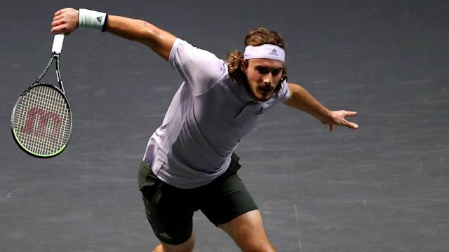 After losing the first set and falling 2-0 behind in the second, Stefanos Tsitsipas rallied to beat Hubert Hurkacz.