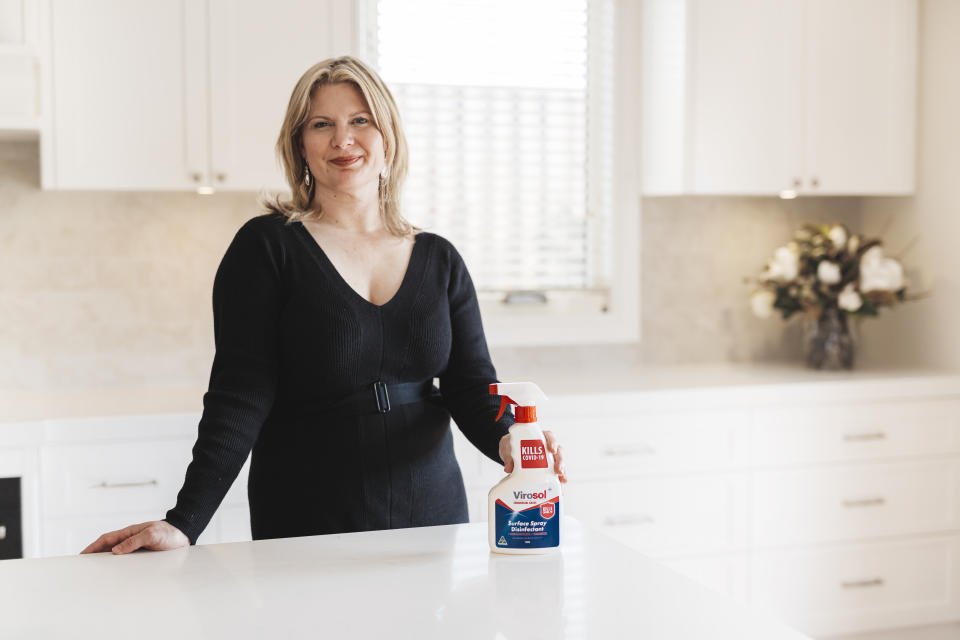 Sophie Westlake, the co-owner and creator of Virosol has a science background and the product is formulated with no harsh chemicals