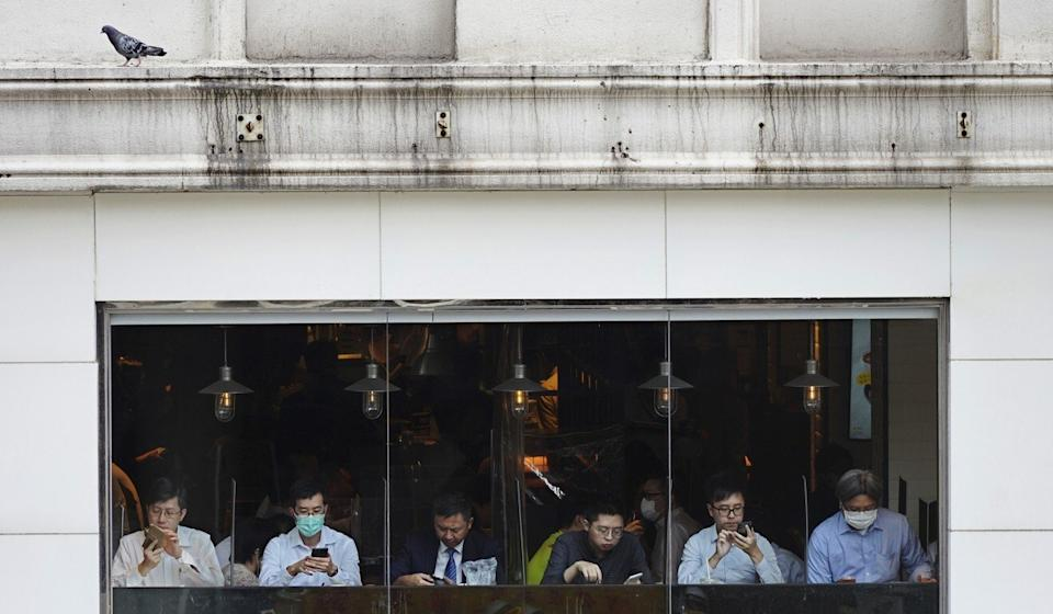 Lunchtime during a workday in Hong Kong's Central area in May. Photo: Sam Tsang