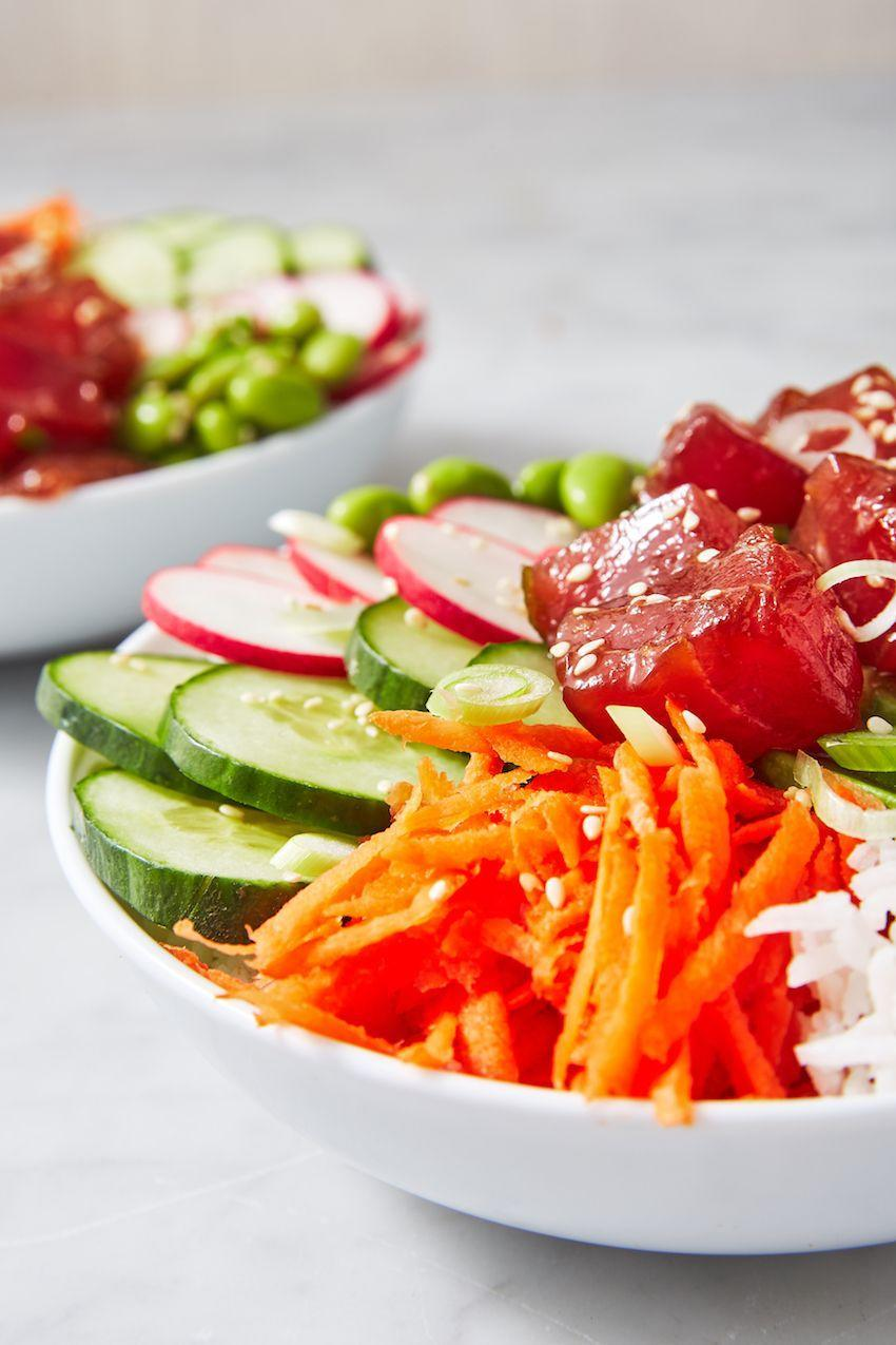 """<p>This is a PERFECT summer meal.</p><p>Get the recipe from <a href=""""https://www.delish.com/cooking/recipe-ideas/a26146740/ahi-poke-bowls/"""" rel=""""nofollow noopener"""" target=""""_blank"""" data-ylk=""""slk:Delish"""" class=""""link rapid-noclick-resp"""">Delish</a>.</p>"""