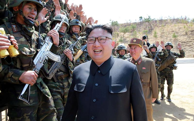 North Korean Leader Kim Jong Un attends a target-striking contest by the Korean People's Army - REUTERS