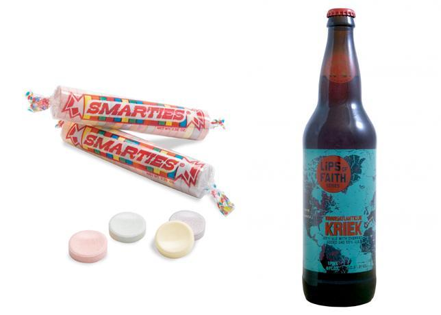"""<div class=""""caption-credit""""> Photo by: Bon Appetit</div><b>Smarties & New Belgium Transatlantique Kriek <br></b> <br> If you eat a minimum of one roll of Smarties, you'll quickly realize what's missing: more tartness. Since you're more likely to see this candy in your kid's trick-or-treat haul than SweeTarts, add your own splash of sour with the Transatlantique Kriek, a lambic made with Polish cherries in Belgium and eventually blended with a golden lager at New Belgium in Colorado. The crisp, bubbly beer has a fruity finish that's enhanced by nearly every Smartie color/flavor. Except the white ones. <p> <b>See more:</b> <br> <b><span>7 Most Common French Toast Mistakes <br></span></b> <b><a rel=""""nofollow noopener"""" href=""""http://www.bonappetit.com/recipes/slideshow/25-ways-to-use-sriracha?slide=1?mbid=synd_yshine"""" target=""""_blank"""" data-ylk=""""slk:25 Ways to Use Sriracha"""" class=""""link rapid-noclick-resp"""">25 Ways to Use Sriracha</a></b> <br> </p>"""