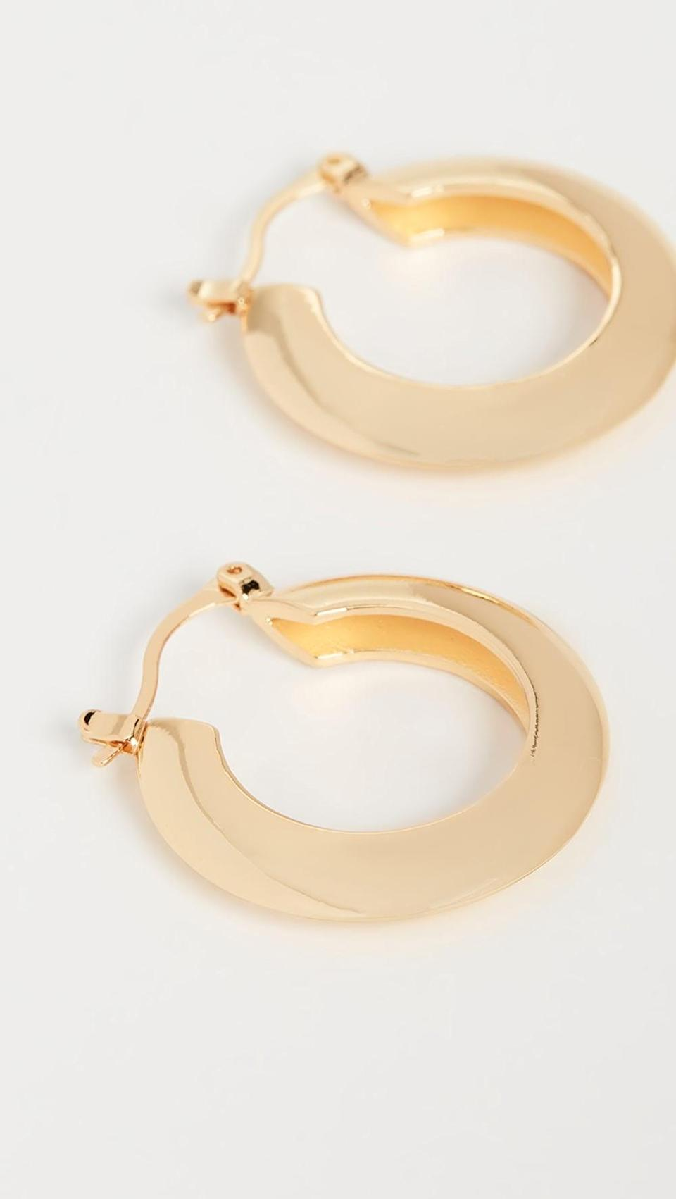 <p>These <span>Shashi Gianna Small Hoop Earrings</span> ($42) are staples.</p>