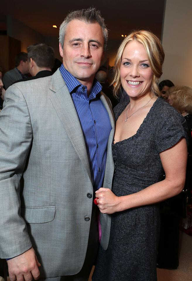 BEVERLY HILLS, CA - DECEMBER 03: (EXCLUSIVE COVERAGE) Matt LeBlanc and Andrea Anders at Showtime 7th Annual Holiday Soiree on December 3, 2012 in Beverly Hills, California. (Photo by Eric Charbonneau/WireImage)