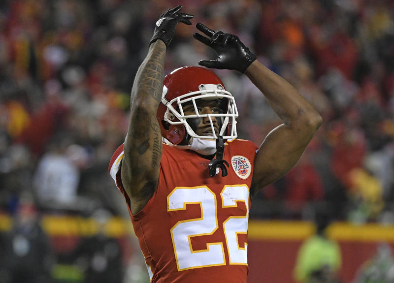 Kansas City Chiefs defensive back Marcus Peters will be traded to the Rams at the start of the league year. (AP)
