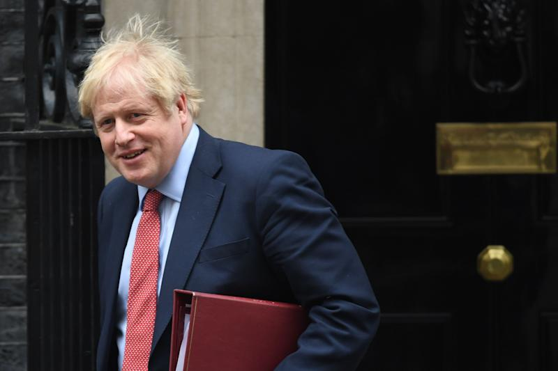Prime Minister Boris Johnson leaves 10 Downing Street, London, for the House of Commons for Prime Minister's Questions. (Photo: PA Wire/PA Images)
