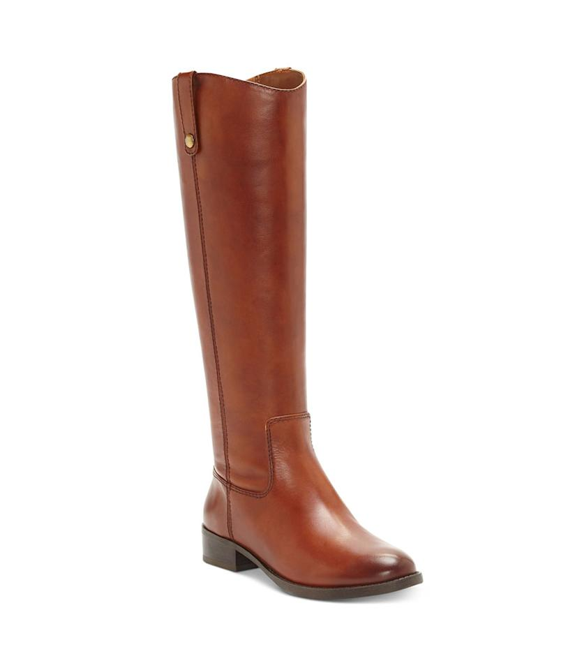 "<p>These I.N.C. boots are top-rated and a best seller at Macy's, and we can see why. They have a classic equestrian style and hit perfectly at the knee. If cognac isn't your taste, they come in five other colors too. We suggest styling them with skinny jeans and a crew-neck sweatshirt. <br /><a rel=""nofollow"" href=""https://fave.co/2SE73hY""><strong>Shop it:</strong></a> $110 (was $180), <a rel=""nofollow"" href=""https://fave.co/2SE73hY"">macys.com</a> </p>"