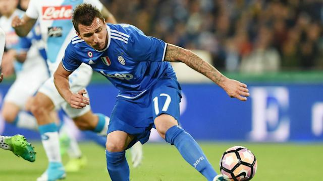 Mario Mandzukic played despite being an injury doubt when Juventus visited Napoli on Saturday but he will miss the Coppa Italia clash.