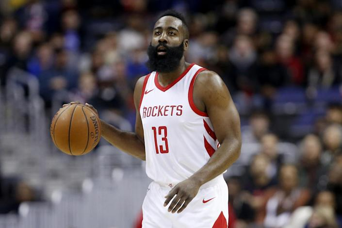 Ex: James Harden dated Khloe Kardashian for eight months before breaking up in 2016 (Getty Images)