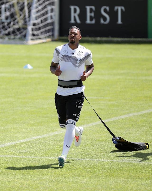 Soccer Football - FIFA World Cup - Germany Training - Eppan, Italy - June 5, 2018 Germany's Jerome Boateng during training REUTERS/Lisi Niesner