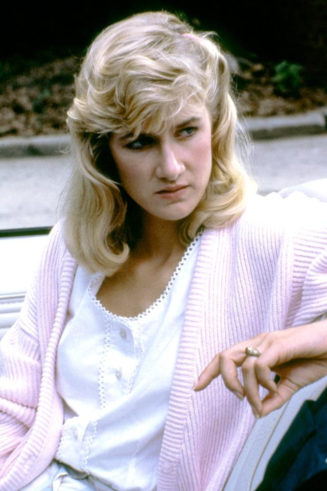 In <em>Blue Velvet, </em>the first of her collaborations with writer/director David Lynch, Dern played the daughter of a detective who, along with her friend Jeffrey Beaumont, tries to solve the mystery of a severed ear in the grass near their homes.