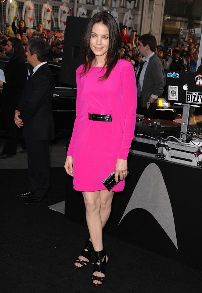 "<a href=""http://movies.yahoo.com/movie/contributor/1804504037"">Michelle Monaghan</a> at the Los Angeles premiere of <a href=""http://movies.yahoo.com/movie/1809752801/info"">Star Trek</a> - 04/30/2009"