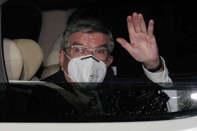 IOC president Thomas Bach arrives in Tokyo for the Games