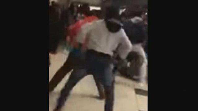 A massive brawl broke out following the McDonald's All-American high school basketball game in Chicago's United Center.