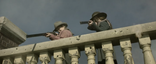 Merritt Wever, left, and Michelle Dockery in <em>Godless</em>. (Photo: Netflix)
