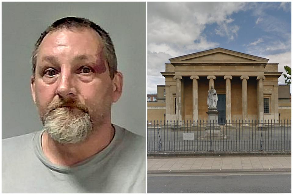 Keith Brown was jailed for 10 years at Worcester Crown Court. (SWNS/Google Maps)