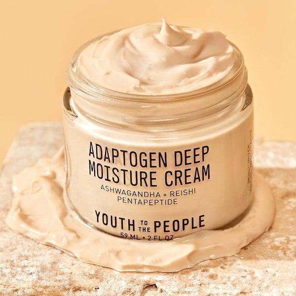 "<p>""I've been meaning to try the <a href=""https://www.popsugar.com/buy/Youth-People-Adaptogen-Deep-Moisture-Cream-578759?p_name=Youth%20To%20The%20People%20Adaptogen%20Deep%20Moisture%20Cream&retailer=sephora.com&pid=578759&price=58&evar1=bella%3Aus&evar9=47519595&evar98=https%3A%2F%2Fwww.popsugar.com%2Fbeauty%2Fphoto-gallery%2F47519595%2Fimage%2F47519661%2FYouth-To-People-Adaptogen-Deep-Moisture-Cream&list1=must%20haves%2Ceditors%20pick%2Cskin%20care&prop13=mobile&pdata=1"" class=""link rapid-noclick-resp"" rel=""nofollow noopener"" target=""_blank"" data-ylk=""slk:Youth To The People Adaptogen Deep Moisture Cream"">Youth To The People Adaptogen Deep Moisture Cream</a> ($58) for as long as it's existed, but it somehow got lost in the depths of my skin-care drawer. Alas, while doing a little deep cleaning, I decided to dig it up and give the tub a try, and I'll say this: I shouldn't have slept on this one. It's completely non-irritating, but has taken my skin from dear-god-I'm-dry to near-normal levels - a pretty big feat given I'm spending 98.9% of my time indoors."" - KC</p>"