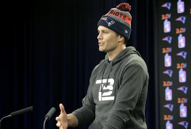 Tom Brady in a different uniform? Seems unlikely, but he knows it's possible. (AP)