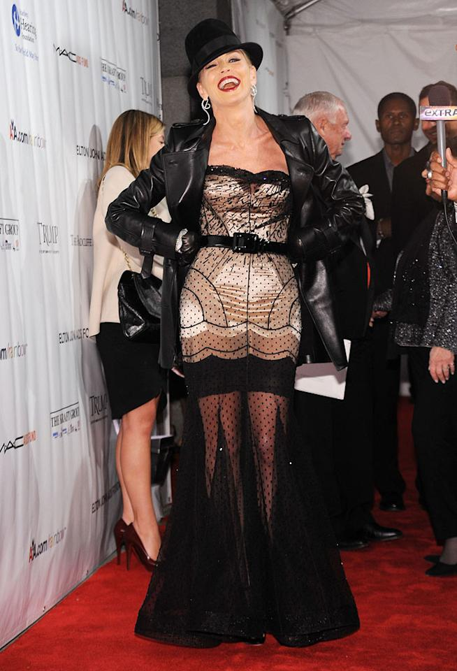 """When it comes to frightening frocks, nobody does it better than the ever-interesting Sharon Stone. Bryan Bedder/<a href=""""http://www.gettyimages.com/"""" target=""""new"""">GettyImages.com</a> - November 14, 2009"""