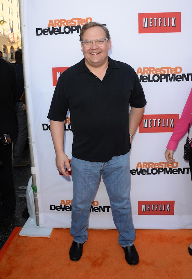 "HOLLYWOOD, CA - APRIL 29:  Actor Andy Richter arrives at the TCL Chinese Theatre for the premiere of Netflix's ""Arrested Development"" Season 4 held on April 29, 2013 in Hollywood, California.  (Photo by Jason Merritt/Getty Images)"