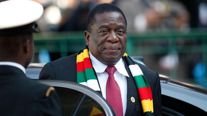 Emmerson Mnangagwa became president after the overthrow of Robert Mugabe in 2017
