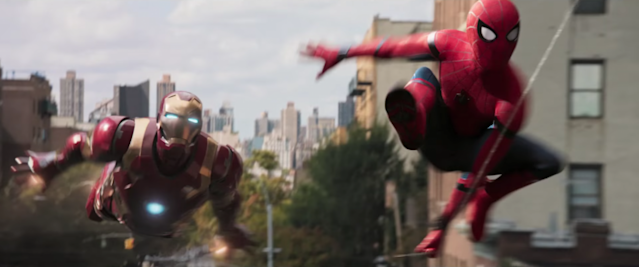 Iron Man and Spider-Man soar into action in <i>Spider-Man: Homecoming</i> (Photo: Marvel Studios)