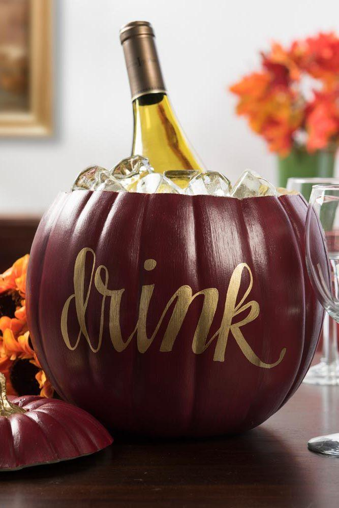 """<p>Transform a pumpkin into the cutest ice bucket with just a few supplies you probably already have at home.</p><p><strong>Get the tutorial at <a href=""""https://plaidonline.com/projects/pumpkin-ice-bucket"""" rel=""""nofollow noopener"""" target=""""_blank"""" data-ylk=""""slk:Plaid"""" class=""""link rapid-noclick-resp"""">Plaid</a>.</strong></p><p><strong><a class=""""link rapid-noclick-resp"""" href=""""https://www.amazon.com/Sharpie-Metallic-Permanent-Markers-Point/dp/B007SYUQ4Q/?tag=syn-yahoo-20&ascsubtag=%5Bartid%7C10050.g.1371%5Bsrc%7Cyahoo-us"""" rel=""""nofollow noopener"""" target=""""_blank"""" data-ylk=""""slk:SHOP GOLD MARKERS"""">SHOP GOLD MARKERS</a><br></strong></p>"""