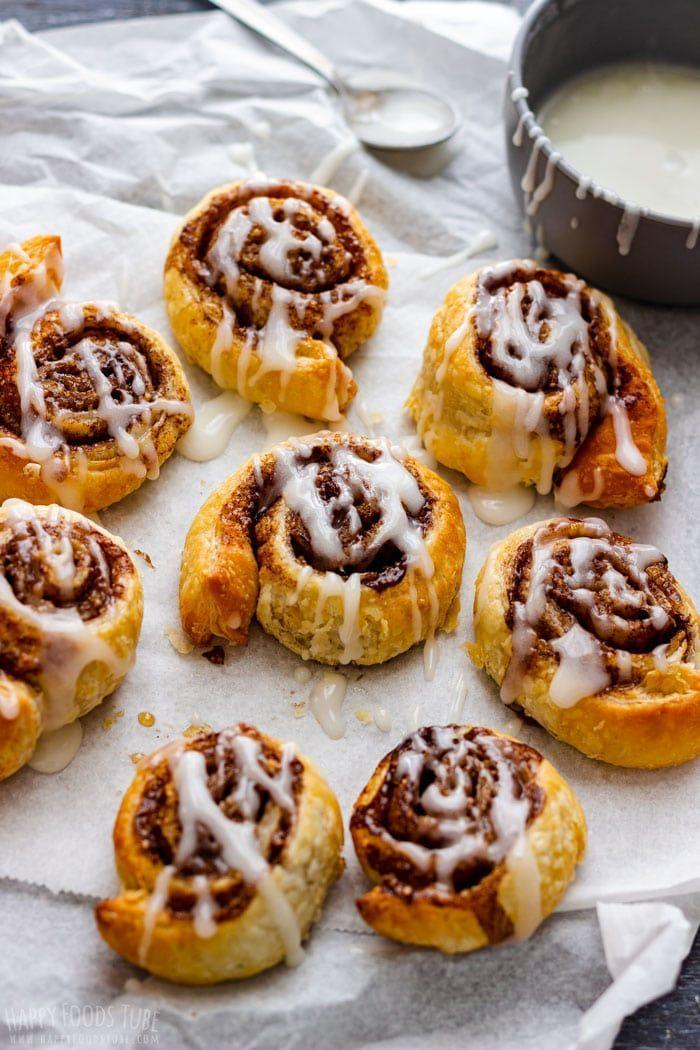 """<p>Nothing beats the smell of freshly made cinnamon rolls! This simple air fryer version comes together in just 15 minutes. </p><p><strong>Get the recipe at <a href=""""https://www.happyfoodstube.com/air-fryer-cinnamon-rolls/"""" rel=""""nofollow noopener"""" target=""""_blank"""" data-ylk=""""slk:Happy Foods Tube"""" class=""""link rapid-noclick-resp"""">Happy Foods Tube</a>.</strong></p>"""