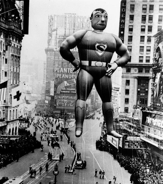 The Macy's Thanksgiving Day Parade on Broadway in New York City on Nov. 30, 1933. (Photo: AP)