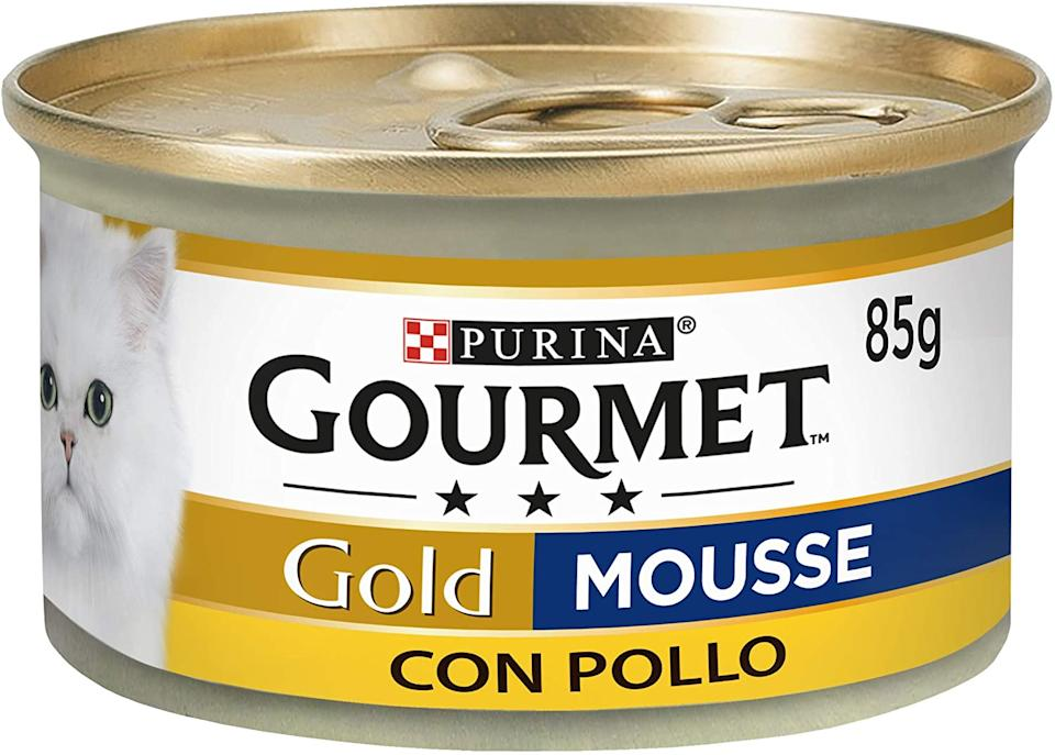 Purina Gourmet Gold Umido Gatto Mousse con Pollo