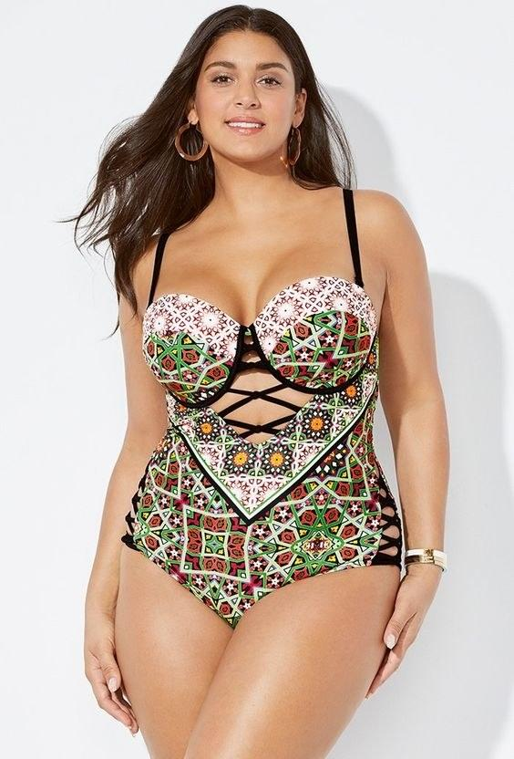 Swimsuits for All Ibiza Cut Out Underwire One Piece Swimsuit, $45, available at swimsuitsforall.com.
