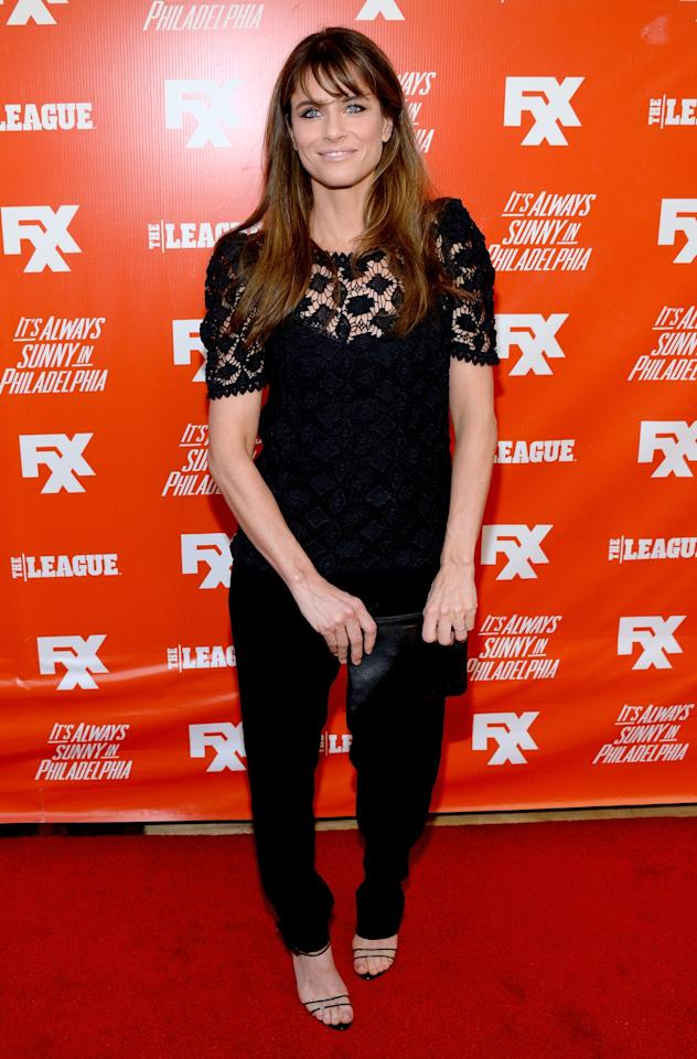"""HOLLYWOOD, CA - SEPTEMBER 03: Actress Amanda Peet attends the premiere and launch party for FXX Network's """"It's Always Sunny In Philadelphia"""" and """"The League"""" at Lure on September 3, 2013 in Hollywood, California. (Photo by Mark Davis/Getty Images)"""
