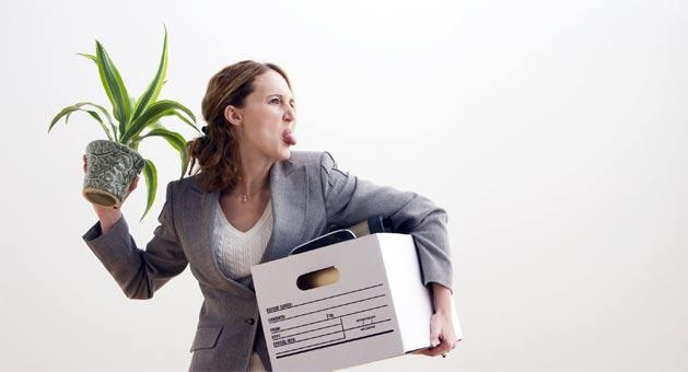 Office Meltdown worker sacked redundancy job loss