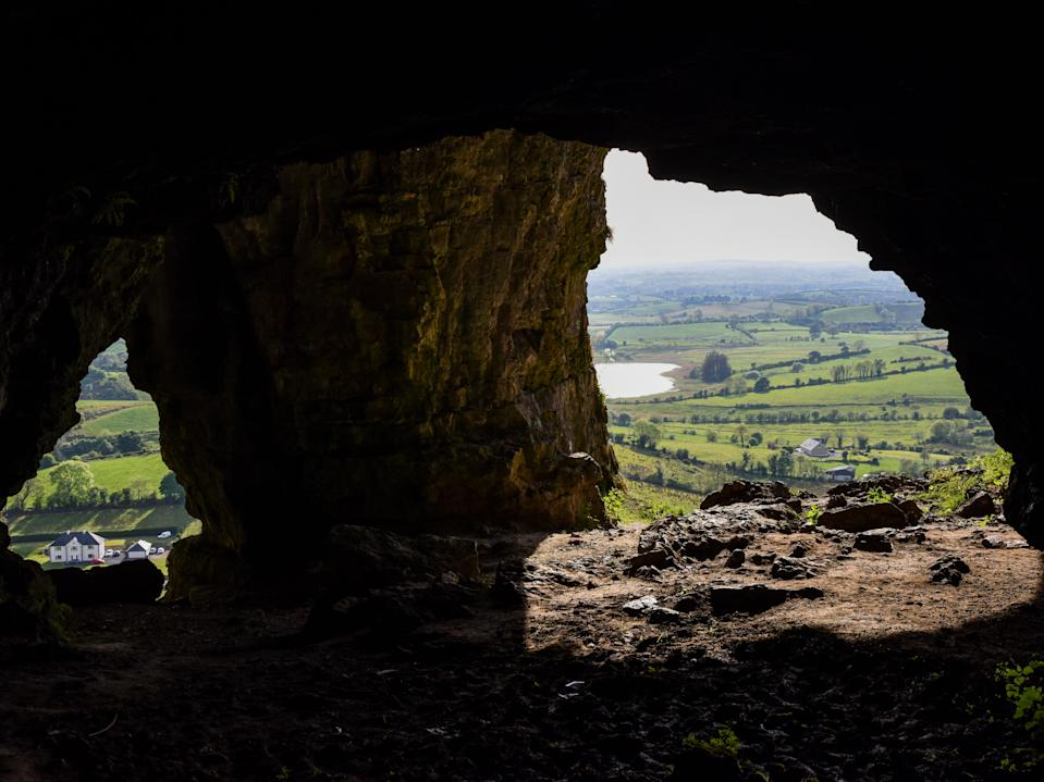 <p>The Keshcorran Mountain caves were seen as portals to the 'otherworld'</p> (Ronan O'Connell)