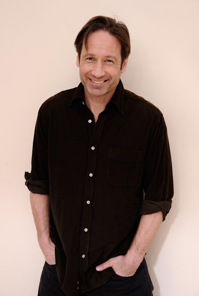 PARK CITY, UT - JANUARY 25:  Actor David Duchovny poses for a portrait during the 2012 Sundance Film Festival at the Getty Images Portrait Studio at T-Mobile Village at the Lift on January 25, 2012 in Park City, Utah.  (Photo by Larry Busacca/Getty Images)
