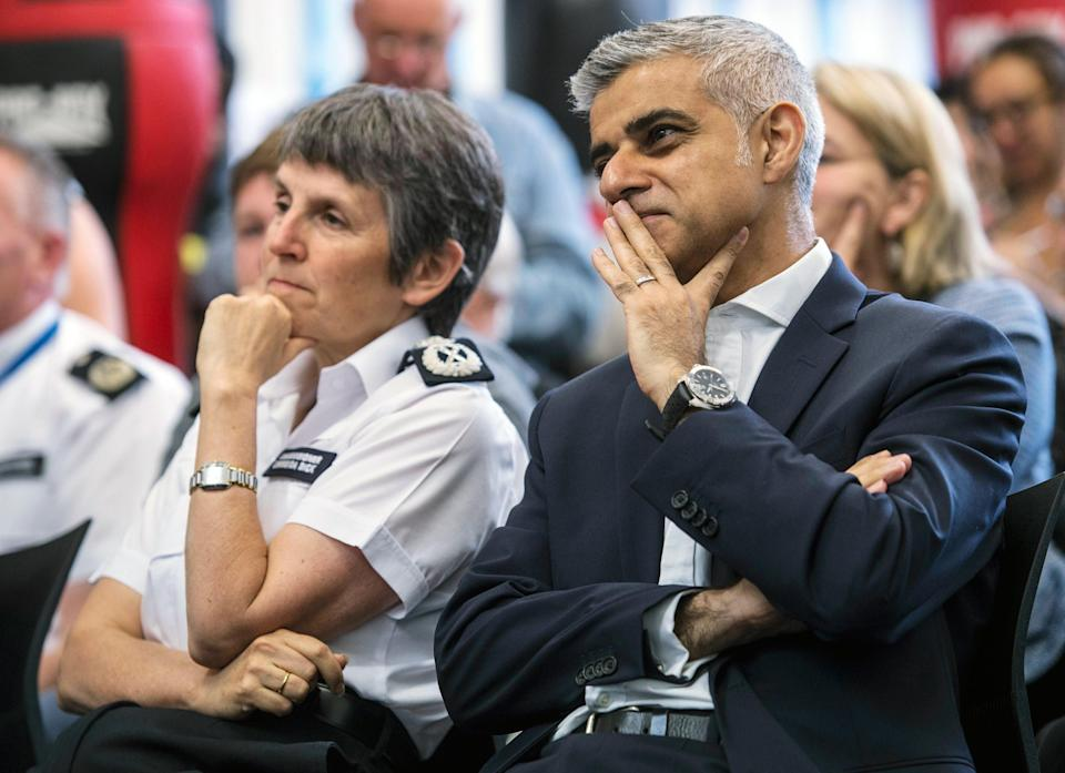 Sadiq Khan has backed the Met Police Commissioner and her officers over the policing of the Euro 2020 final (Lauren Hurley/PA) (PA Archive)