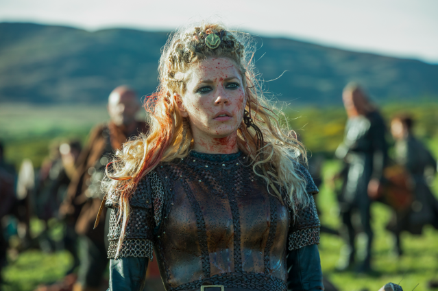 Katheryn Winnick as Queen Lagertha in <em>Vikings</em>. (Photo: Jonathan Hession)