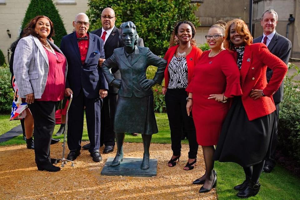 The family of Henrietta Lacks celebrate the unveiling of her statue at the University of Bristol (Ben Birchall/PA) (PA Wire)
