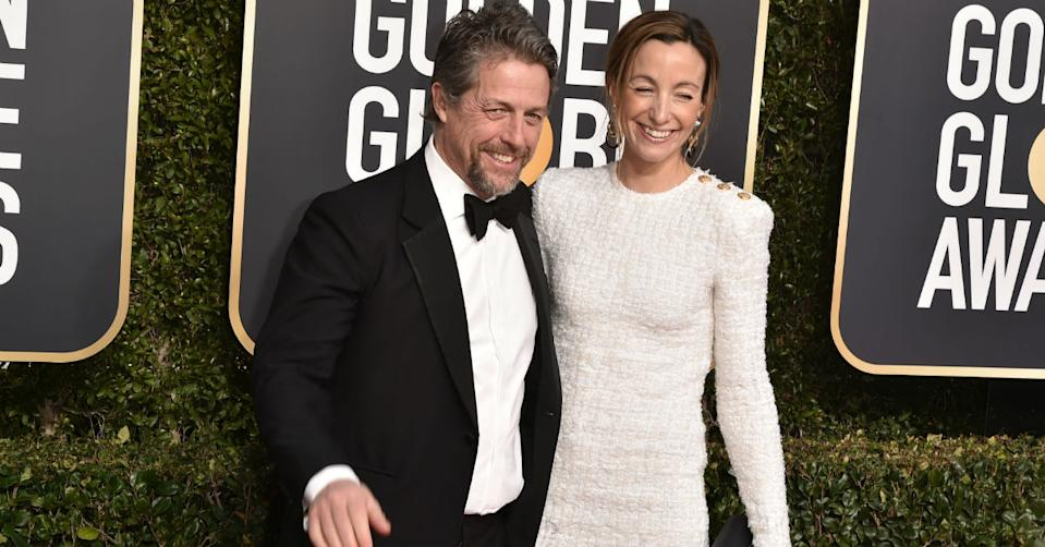 Hugh Grant and Anna Eberstein married in 2018 (Getty)