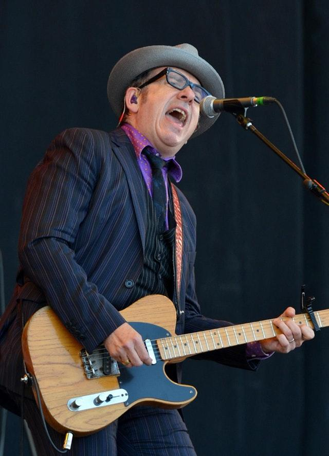 Elvis Costello on stage