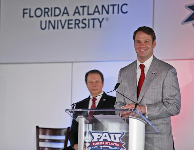 Florida Atlantic hired Lane Kiffin on Dec. 12. (AP)