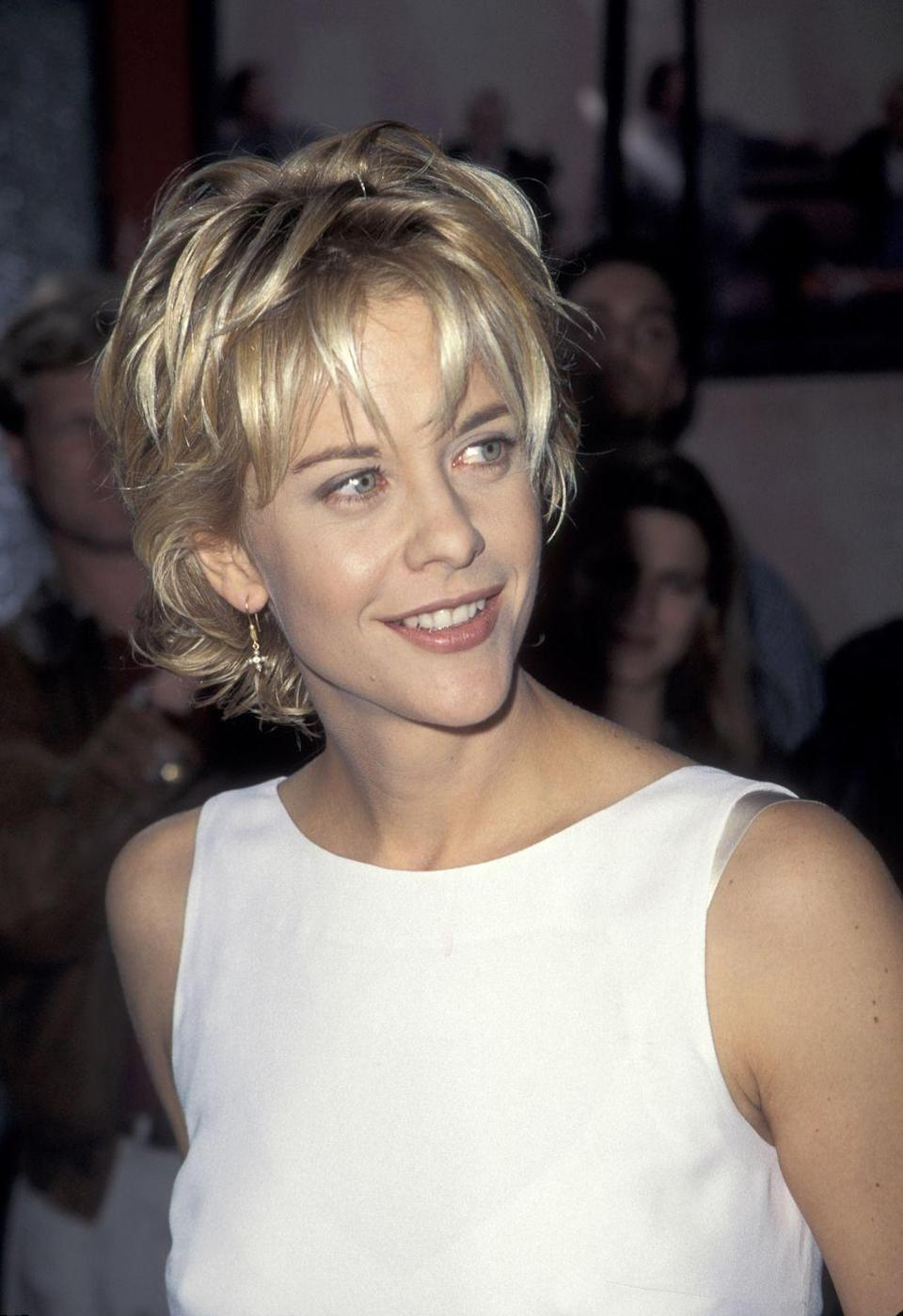 <p>Meg Ryan's starring role in When <em>Harry Met Sally </em>in 1989 paved the way for her status as one of the biggest '90s rom-com stars. She found more success with roles in films like <em>Sleepless in Seattle, You've Got Mail, When A Man Loves A Woman</em>, and <em>City of Angels</em>.</p>