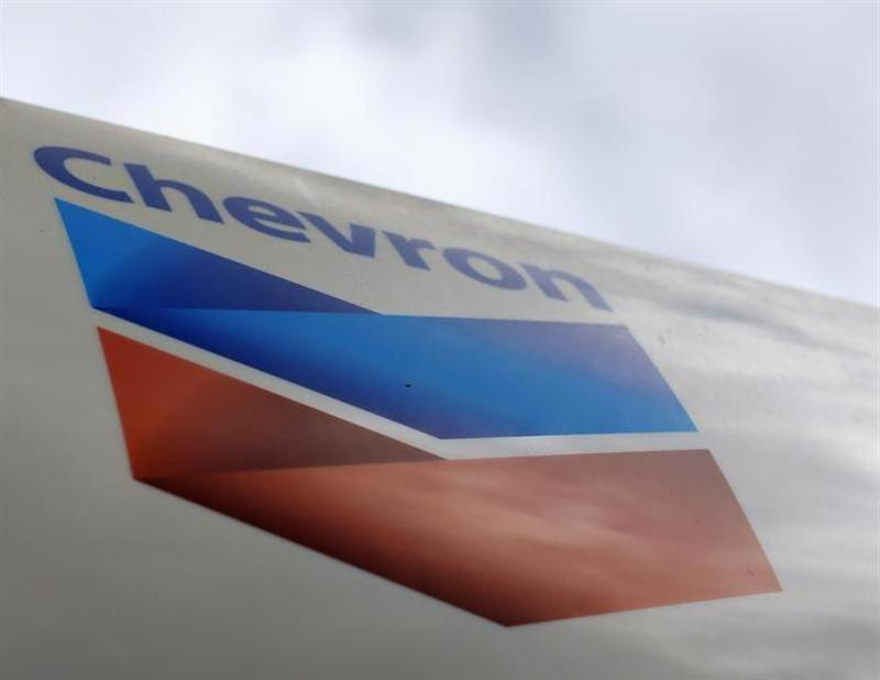 A Chevron gas station sign is shown at one of their retain gas stations in Cardiff, California