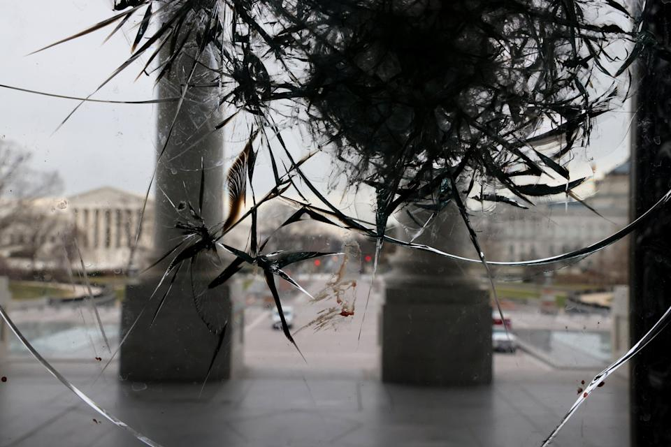 Riot damage is visible on the Rotunda doors of the U.S. Capitol in Washington, U.S. January 8, 2021. REUTERS/Jonathan Ernst (Photo: Jonathan Ernst / Reuters)