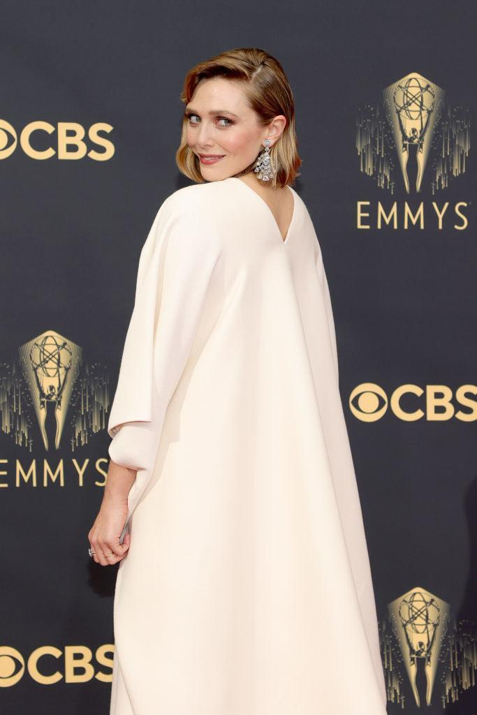 LOS ANGELES, CALIFORNIA - SEPTEMBER 19: Elizabeth Olsen attends the 73rd Primetime Emmy Awards at L.A. LIVE on September 19, 2021 in Los Angeles, California. (Photo by Rich Fury/Getty Images)