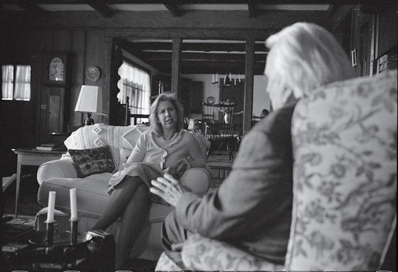 Nancy Gibbs and the Rev. Billy Graham at Graham's home in Montreat, N.C., in 2007.